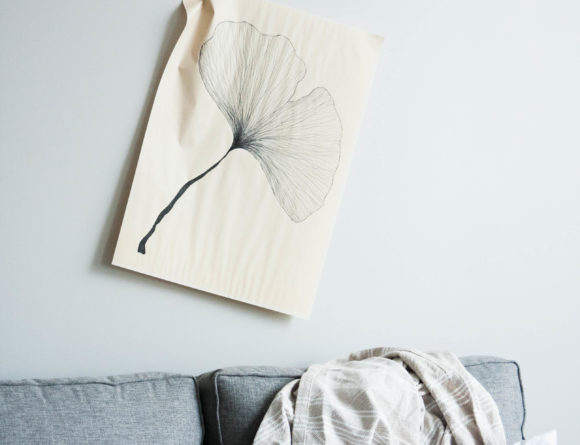 neutral living room grey sofa minimalist interior ginkgo art home rg daily blog