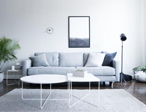 minimalist living room home interior grey white rg daily blog