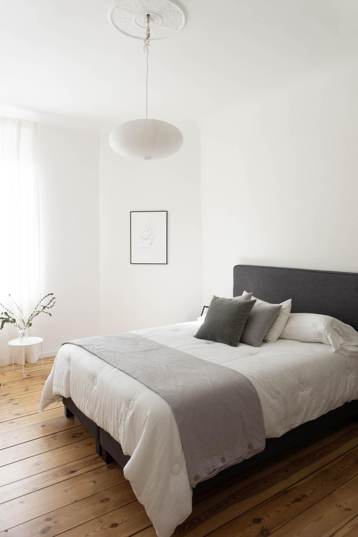 Rattan Cane Wood Chair Minimalist Bedroom Scandinavian Interior Design Eucalyptus Rebecca Goddard 15 Rg Daily