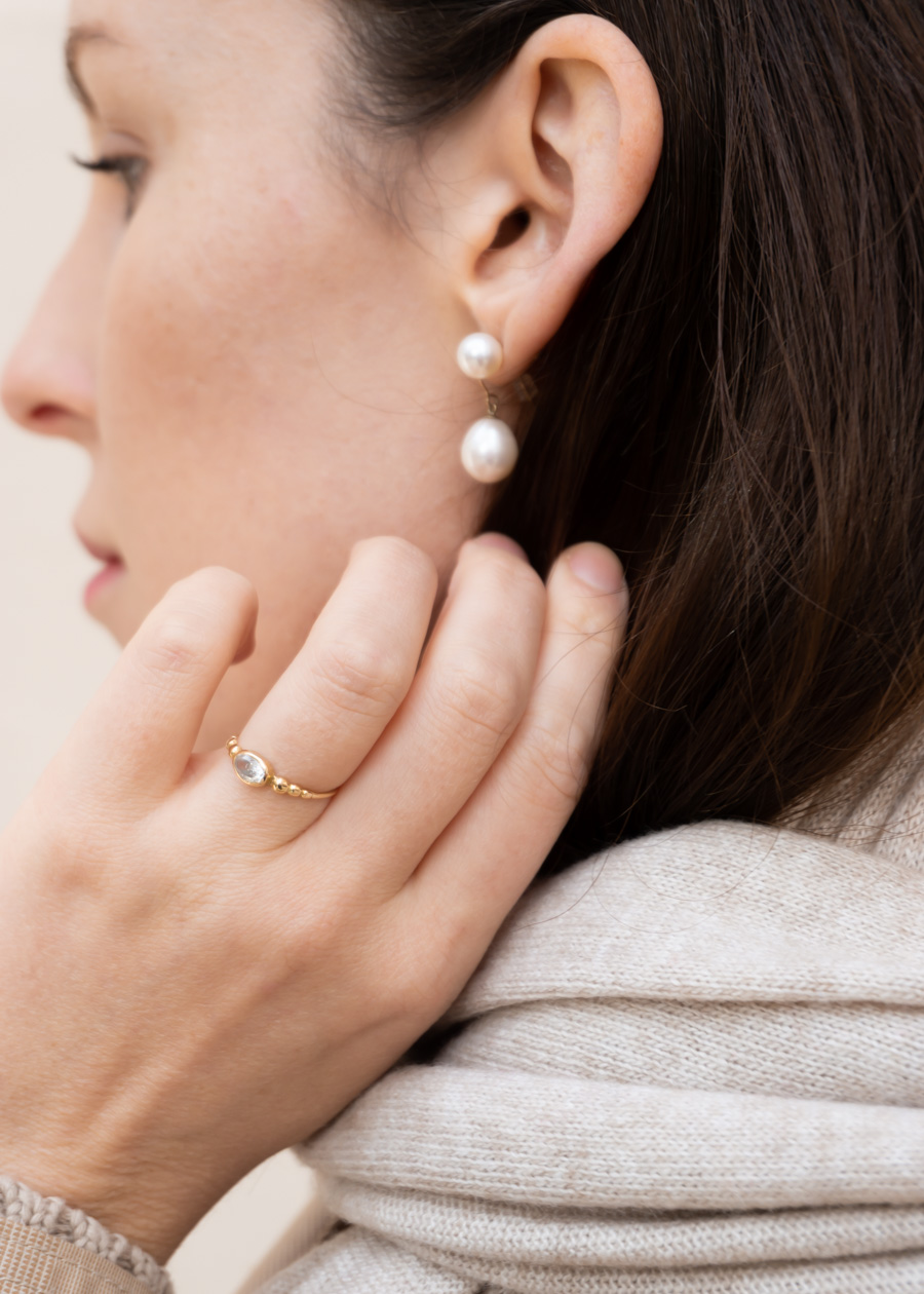 Beige Layers Staggered Pearls Autumn Fashion Rg Daily