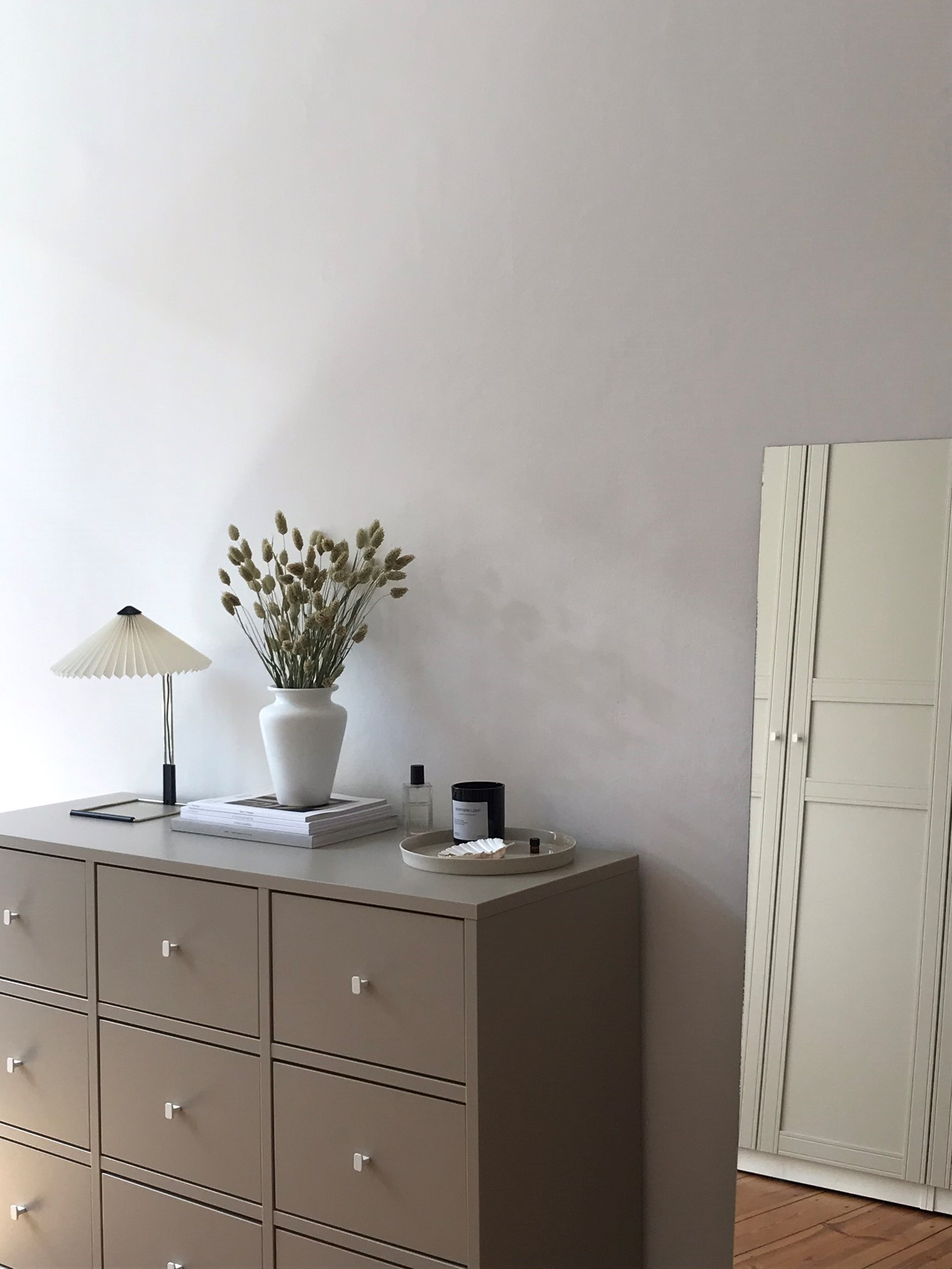 Hay Matin Lamp Minimal Danish Design Aesthetic Slow Living Simple Interior Inspo Neutral Colors Tones Beige Storage Dried Flowers Home Inspiration Rg Daily Blog Mirror Bedroom Decor Rg Daily