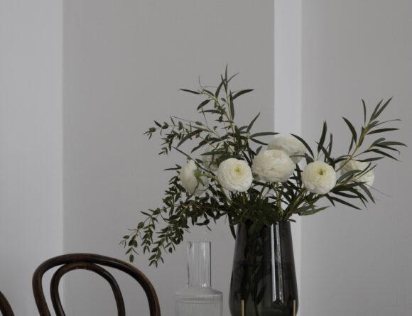 Echasse Vase by Menu Ripple Glasses by Ferm Living