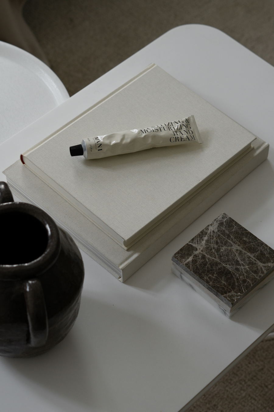 Beige Coffee Table and Interior Design Objects