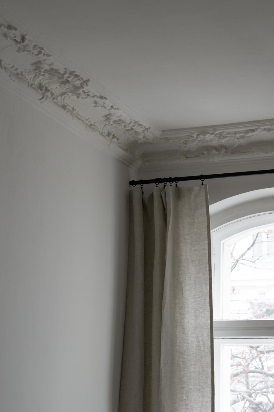 Zelva Curtains Urbanara, Beige Linen