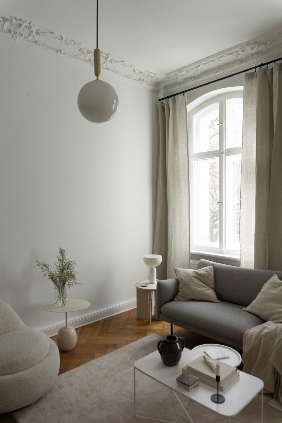 Beige Interior Design, Zelva Linen Curtains, Urbanara