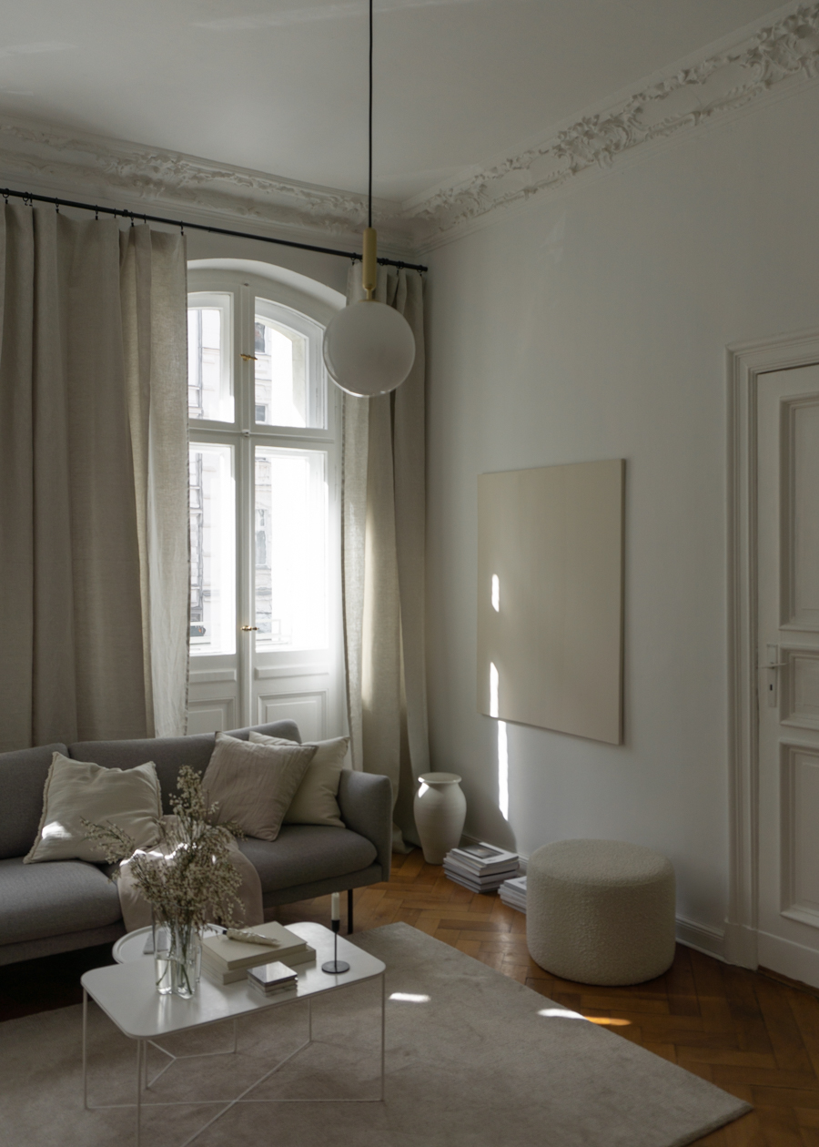 Dreamy Linen Curtains, Beige Interior Design